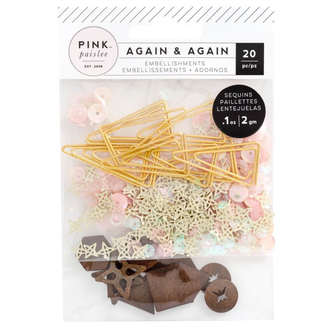 Adornos Again & Again Paper Clips, Sequins & Wood Veneers