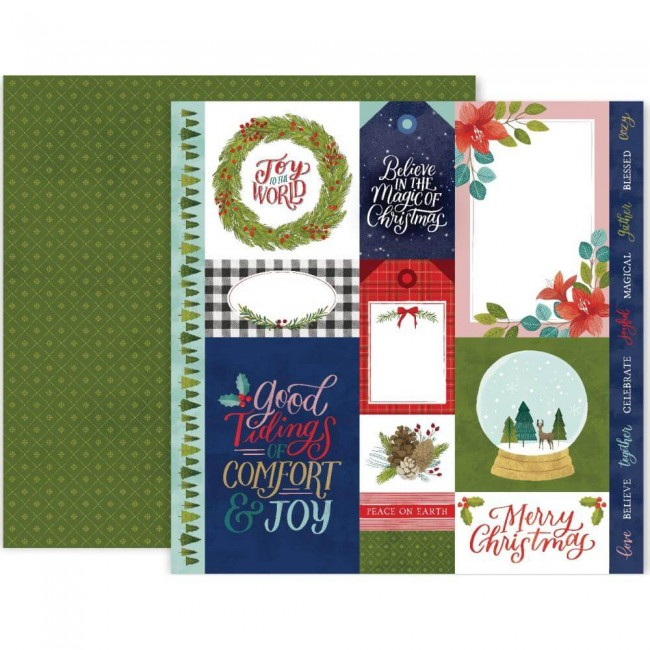Papel Estampado Doble Cara 12x12 Together For Christmas #1