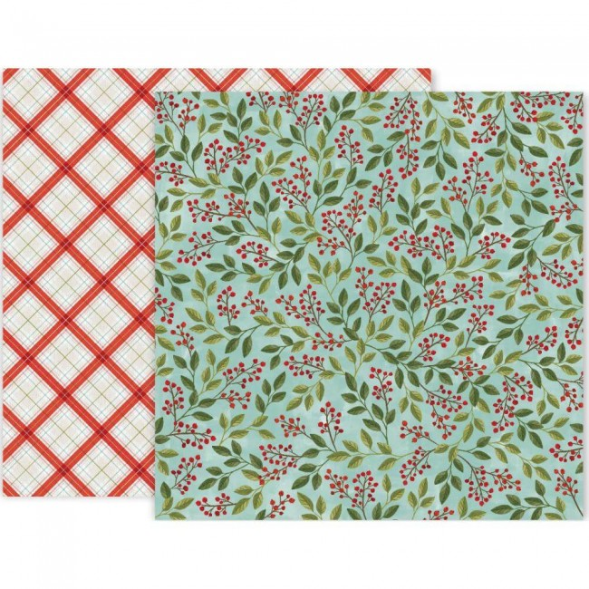 Papel Estampado Doble Cara 12x12 Together For Christmas #9