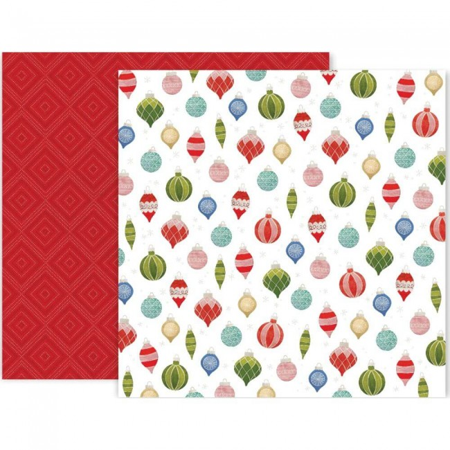 Papel Estampado Doble Cara 12x12 Together For Christmas #11