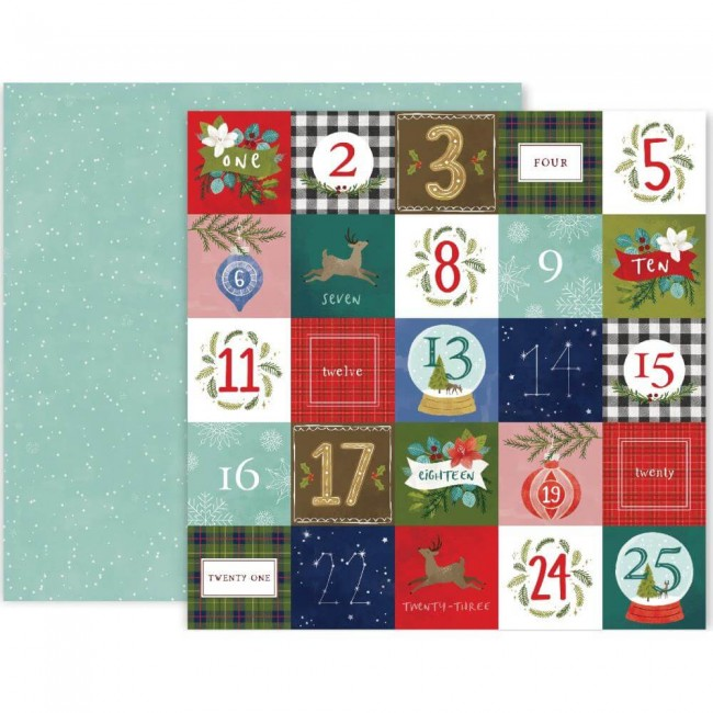 Papel Estampado Doble Cara 12x12 Together For Christmas #12