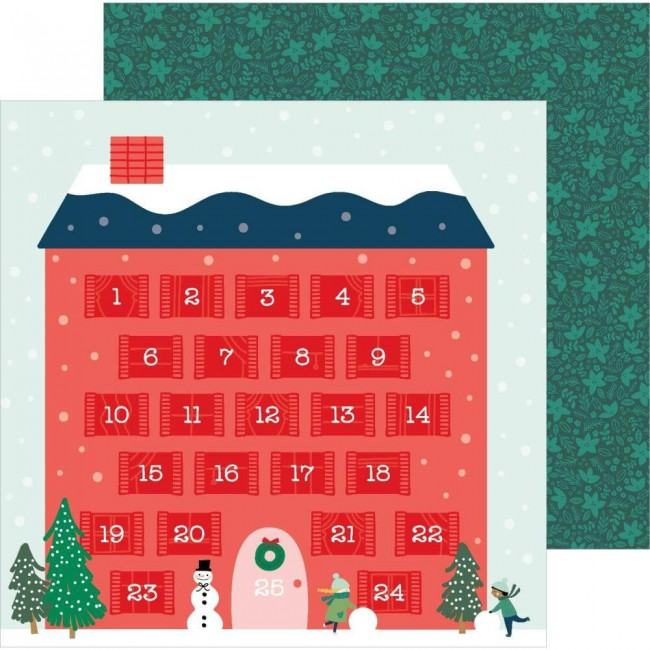 Papel Estampado Doble Cara 12x12 Merry Little Christmas Counting Down