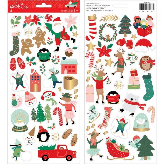 Pegatinas 6x12 Merry Little Christmas Icons