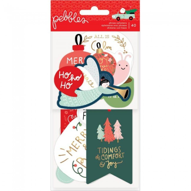 Die Cuts Merry Little Christmas Phrases