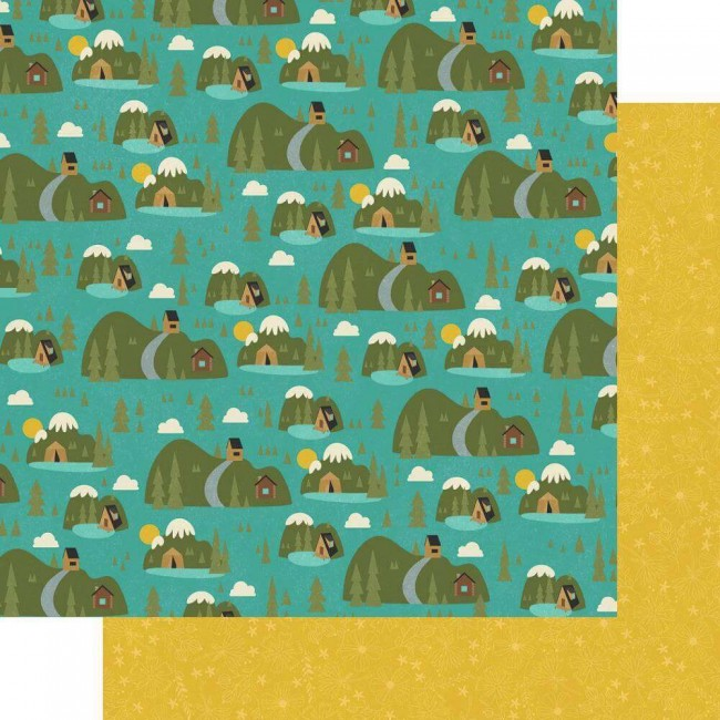 Papel Estampado Doble Cara 12x12 Happy Trails Great Outdoors