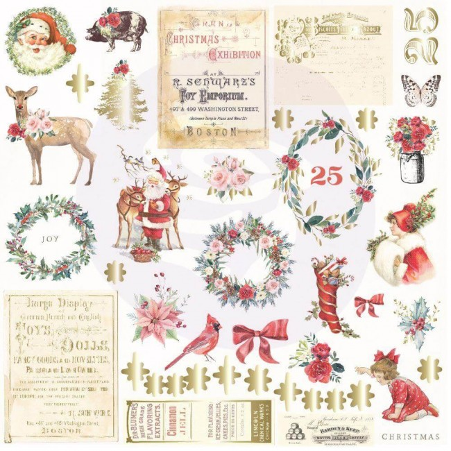 Die Cuts Christmas In The Country 42 piezas Shapes, Tags, Words