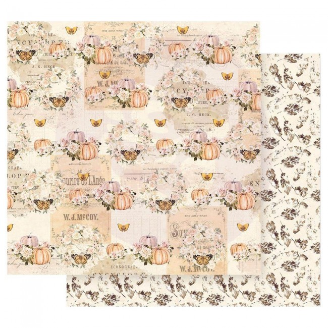Papel Estampado Doble Cara 12x12 Autumn Sunset Fall Flight