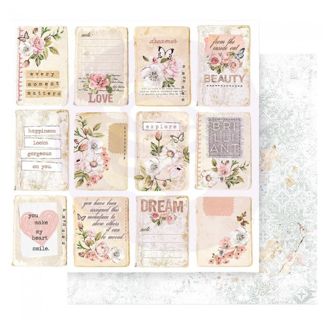 Papel Estampado Doble Cara 12x12 Apricot Honey Happiness Looks Good On You