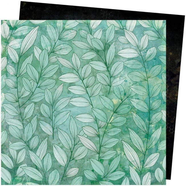 Papel Estampado Doble Cara 12x12 Wild Flower & Honey Vicki Boutin Greenery