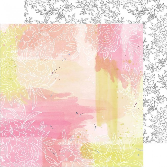 Papel Estampado Doble Cara 12x12 Just A Little Lovely One Fine Day