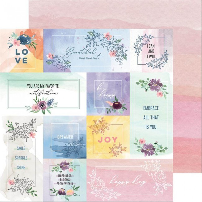Papel Estampado Doble Cara 12x12 Just A Little Lovely Story