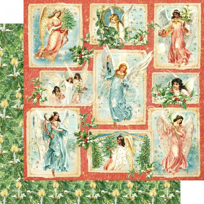 Papel Estampado Doble Cara 12x12 Joy To The World Radiant Beams