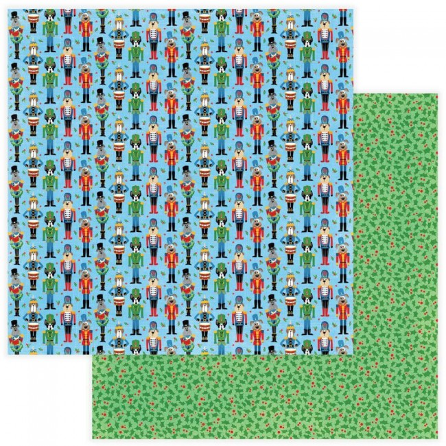 Papel Estampado Doble Cara 12x12 Muttcracker Muttcracker