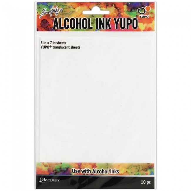Papel Yupo Tim Holtz Alcohol Ink 5x7 10 hojas Translucido