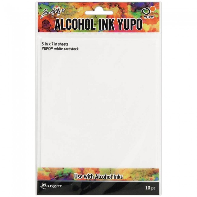 Papel Yupo Tim Holtz Alcohol Ink 5x7 10 hojas Blanco