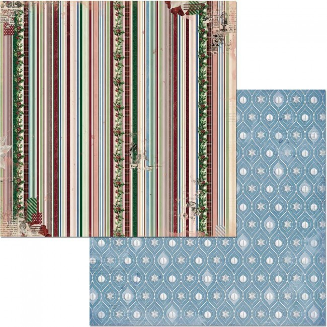 Papel Estampado Doble Cara 12x12 Christmas Treasures Tinsel
