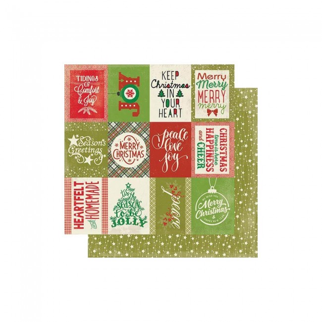 Papel Estampado Doble Cara 12x12 Rejoice #22 Classic Christmas Cut-Aparts