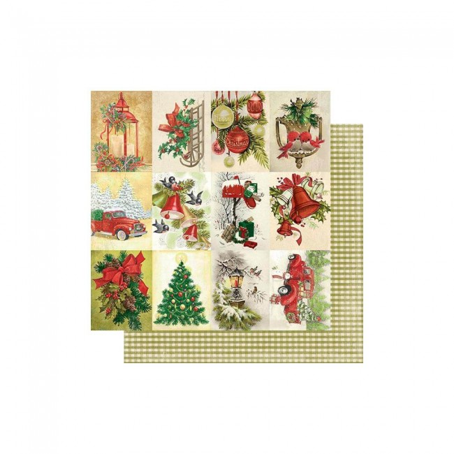 Papel Estampado Doble Cara 12x12 Rejoice #24 Old-Time Holiday Cut-Aparts