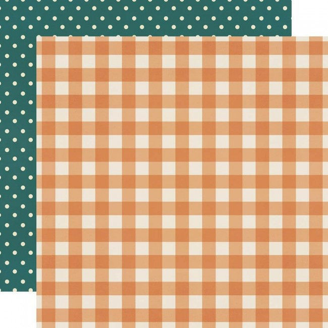 Papel Estampado Doble Cara 12x12 Fall Farmhouse Pumpkin Spice