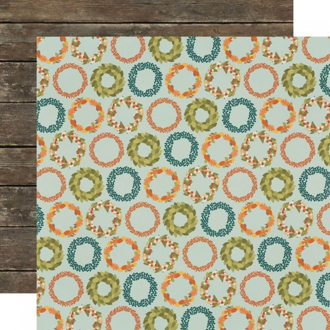 Papel Estampado Doble Cara 12x12 Fall Farmhouse So Very Grateful