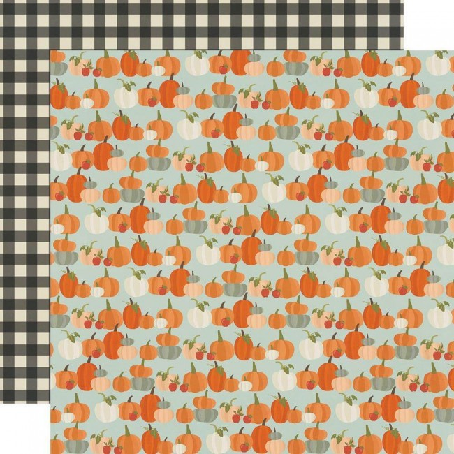 Papel Estampado Doble Cara 12x12 Fall Farmhouse Lil' Pumpkin