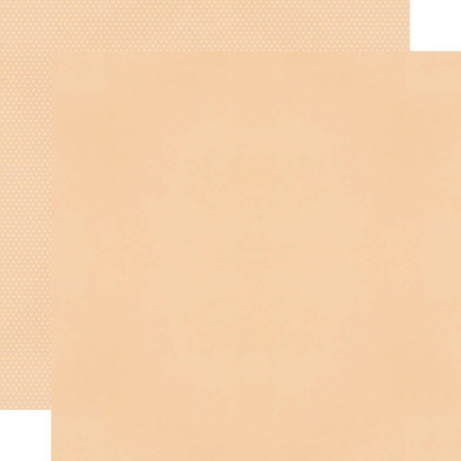 Papel Estampado Doble Cara 12x12 Fall Farmhouse Peach/Dots Simple Basic