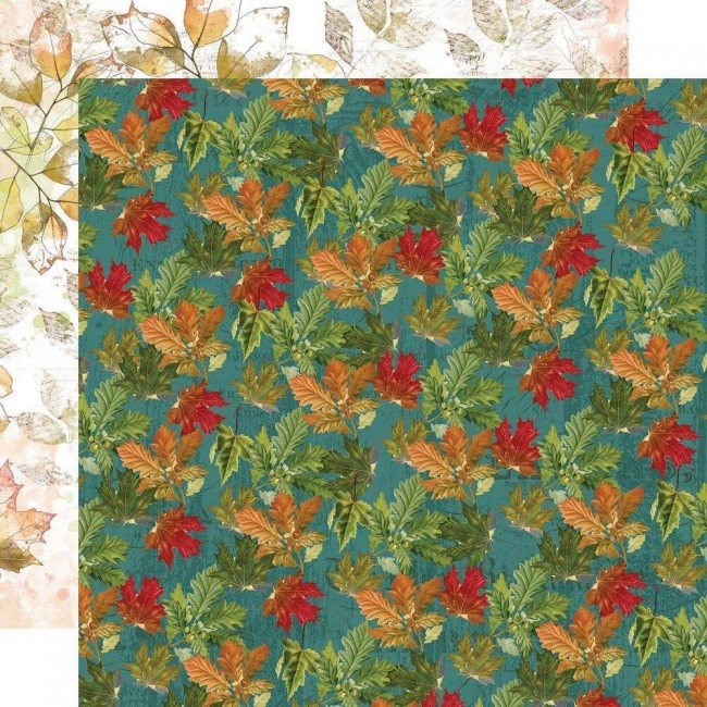 Papel Estampado Doble Cara 12x12 Autumn Splendor Autumn Leaves