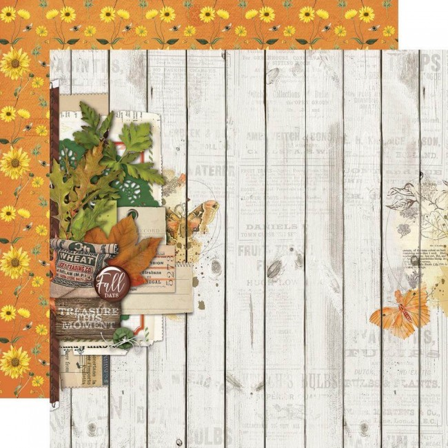 Papel Estampado Doble Cara 12x12 Autumn Splendor Fall Blessings