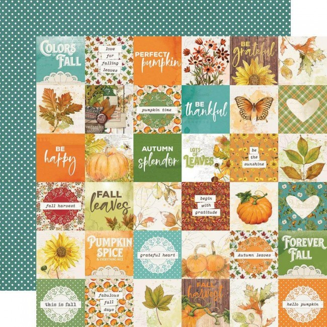 Papel Estampado Doble Cara 12x12 Autumn Splendor 2x2 Elements