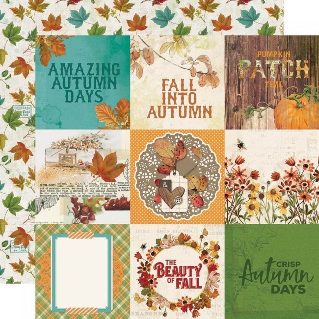Papel Estampado Doble Cara 12x12 Autumn Splendor 4x4 Elements
