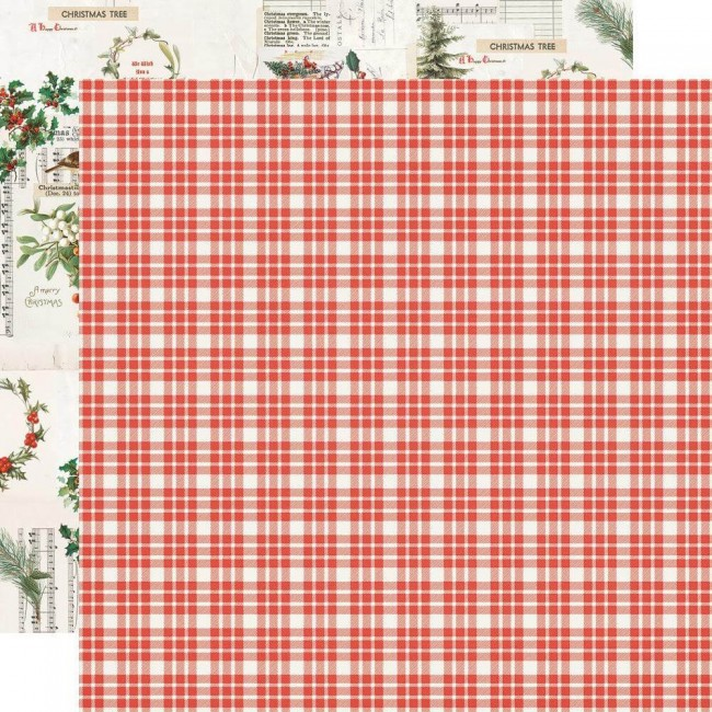 Papel Estampado Doble Cara 12x12 Country Christmas Wonderful Life