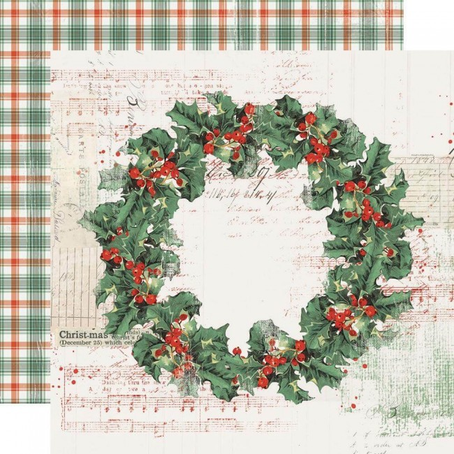 Papel Estampado Doble Cara 12x12 Country Christmas Christmas Magic