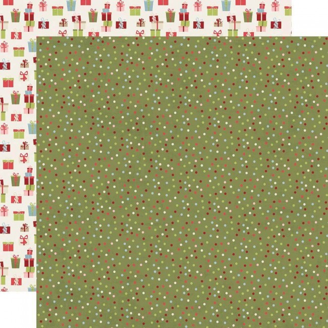Papel Estampado Doble Cara 12x12 Holly Jolly Seasons Greetings