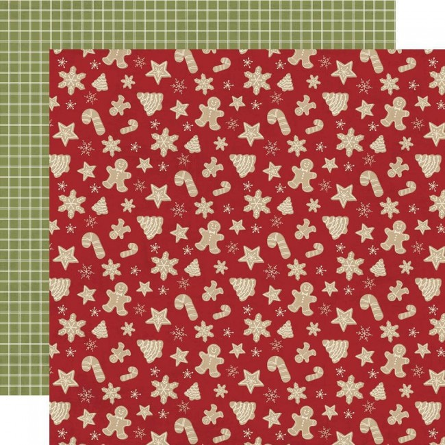 Papel Estampado Doble Cara 12x12 Holly Jolly Happy Holidays
