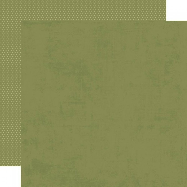Papel Estampado Doble Cara 12x12 Holly Jolly Dark Green/Dots Simple Basic