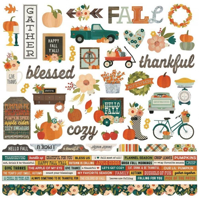 Pegatinas 12x12 Fall Farmhouse Combo