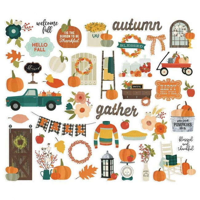 Die Cuts Fall Farmhouse Bits & Pieces