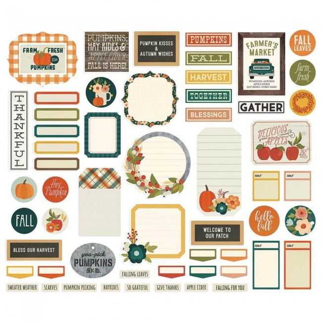 Die Cuts Fall Farmhouse Bits & Pieces Journal