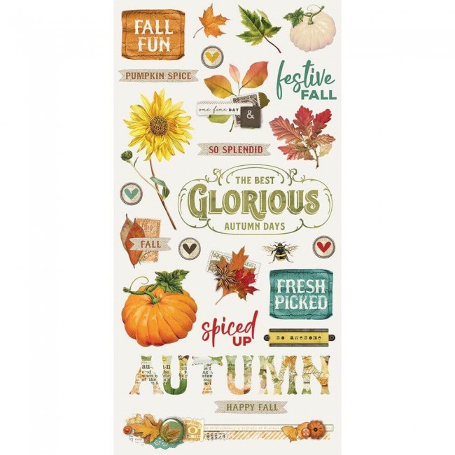 Chipboard 6x12 Autumn Splendor