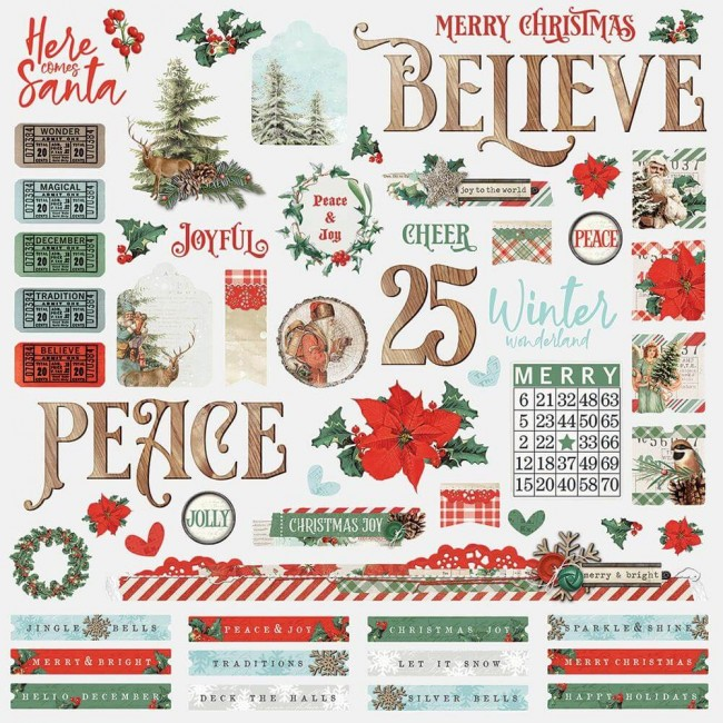 Pegatinas 12x12 Country Christmas Combo