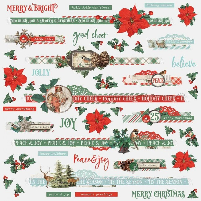 Pegatinas 12x12 Country Christmas Border