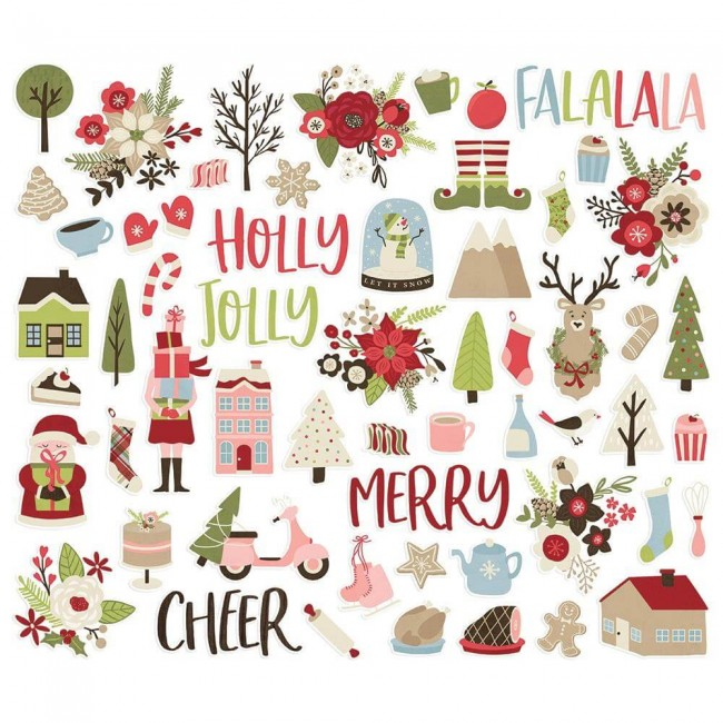 Die Cuts Holly Jolly Bits & Pieces