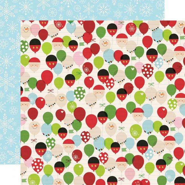 Papel Estampado Doble Cara 12x12 Say Cheese Christmas Happy Place