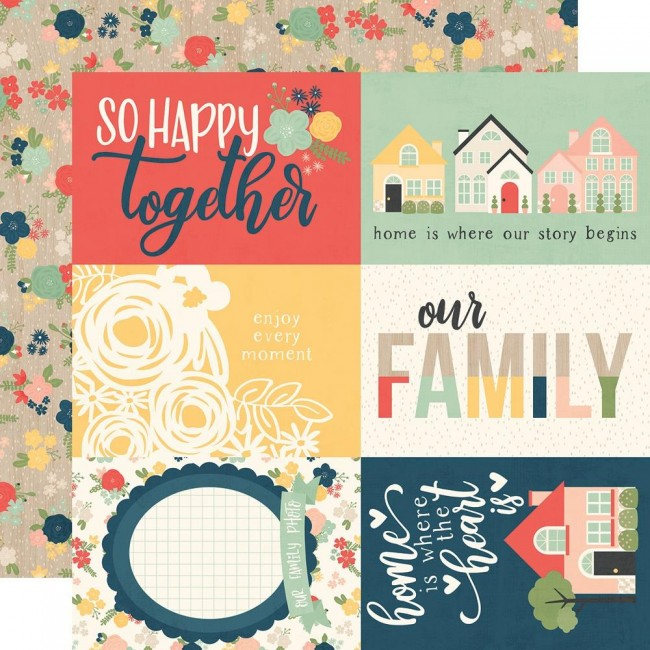 "Papel Estampado Doble Cara 12x12 So Happy Together 4""X6"" Elements"