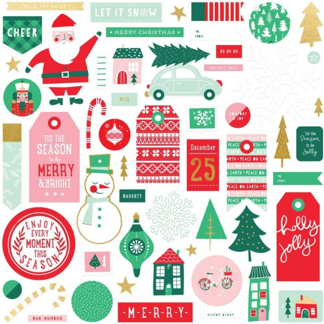 Die Cuts Holly Jolly