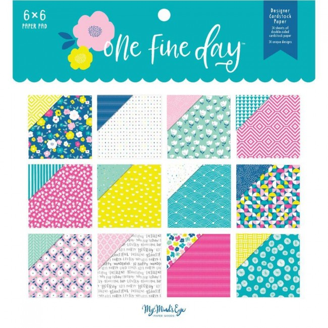 Stack Papeles Estampados 6x6 One Fine Day
