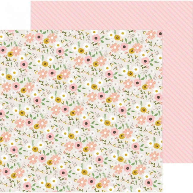 Papel Estampado Doble Cara 12x12 Peek A Boo You Woodland Floral Girl