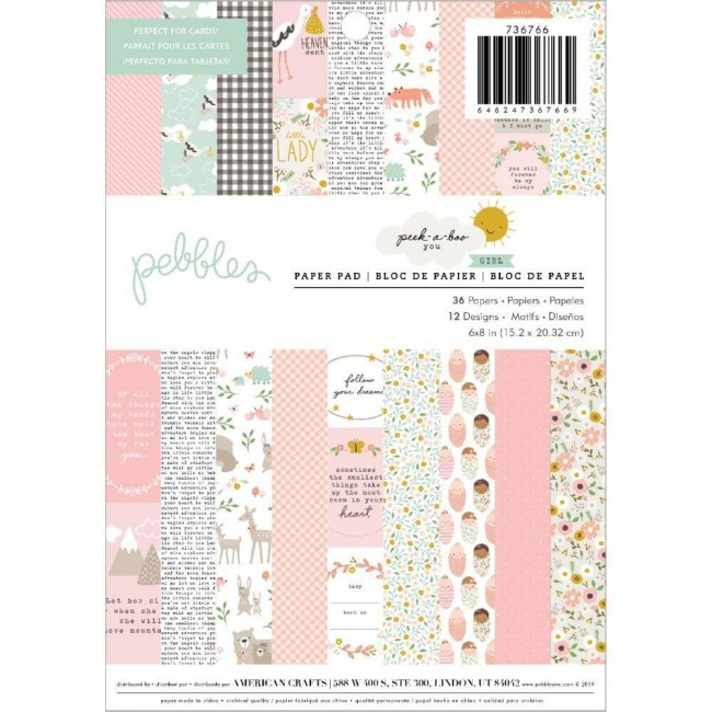 Stack Papeles Estampados 6x8 Una cara Peek A Boo You Girl