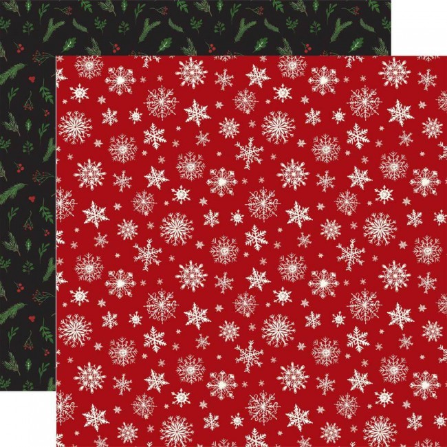 Papel Estampado Doble Cara 12x12 Here Comes Santa Claus Merry Little Christmas