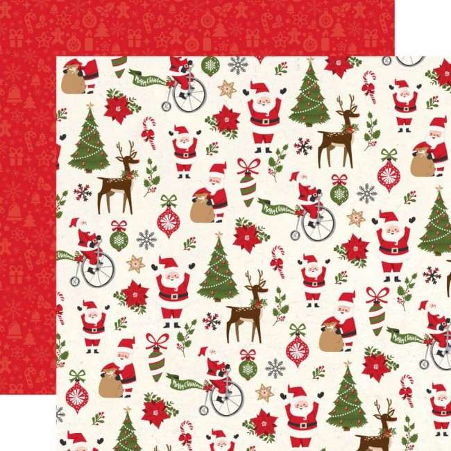 Papel Estampado Doble Cara 12x12 My Favorite Christmas Christmas Fun